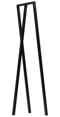 Furniture - Coat Racks & Pegs - Loop Rack - L 45 cm by Hay - Black - Lacquered steel