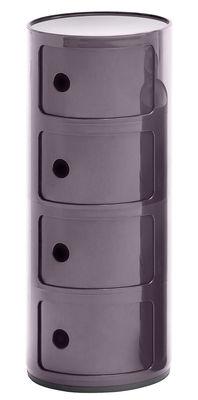 Mobilier - Etagères & bibliothèques - Rangement Componibili / 4 tiroirs - H 77 cm - Kartell - Violet - ABS