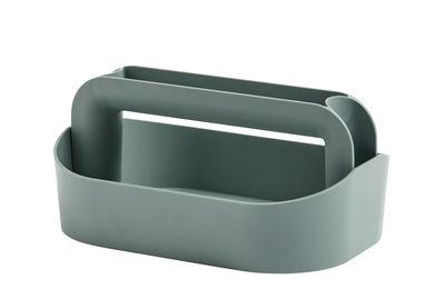 Accessori - Accessori ufficio - Scatola Tool Box, Boîte à maquillage - / L 30,5 x H 14,5 cm di Hay - Verde grigio - ABS