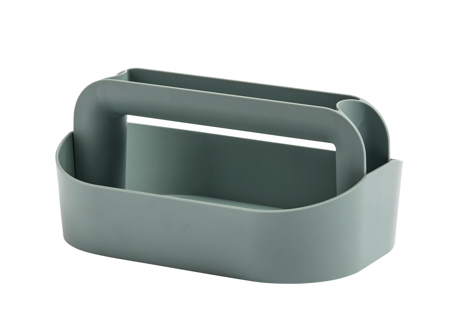 Accessoires - Accessoires für das Büro - Tool Box, Boîte à maquillage Schachtel / L 30,5 cm x H 14,5 cm - Hay - Grün-grau - ABS