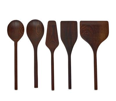 Cucina - Utensili da cucina - Set utensili da cucina Pure - / 5 elementi di Serax - Frassino - Legno di frassino