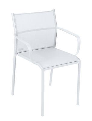 Cadiz Stapelbarer Sessel / stapelbar - Textilbezug - Fermob - Baumwollweiß