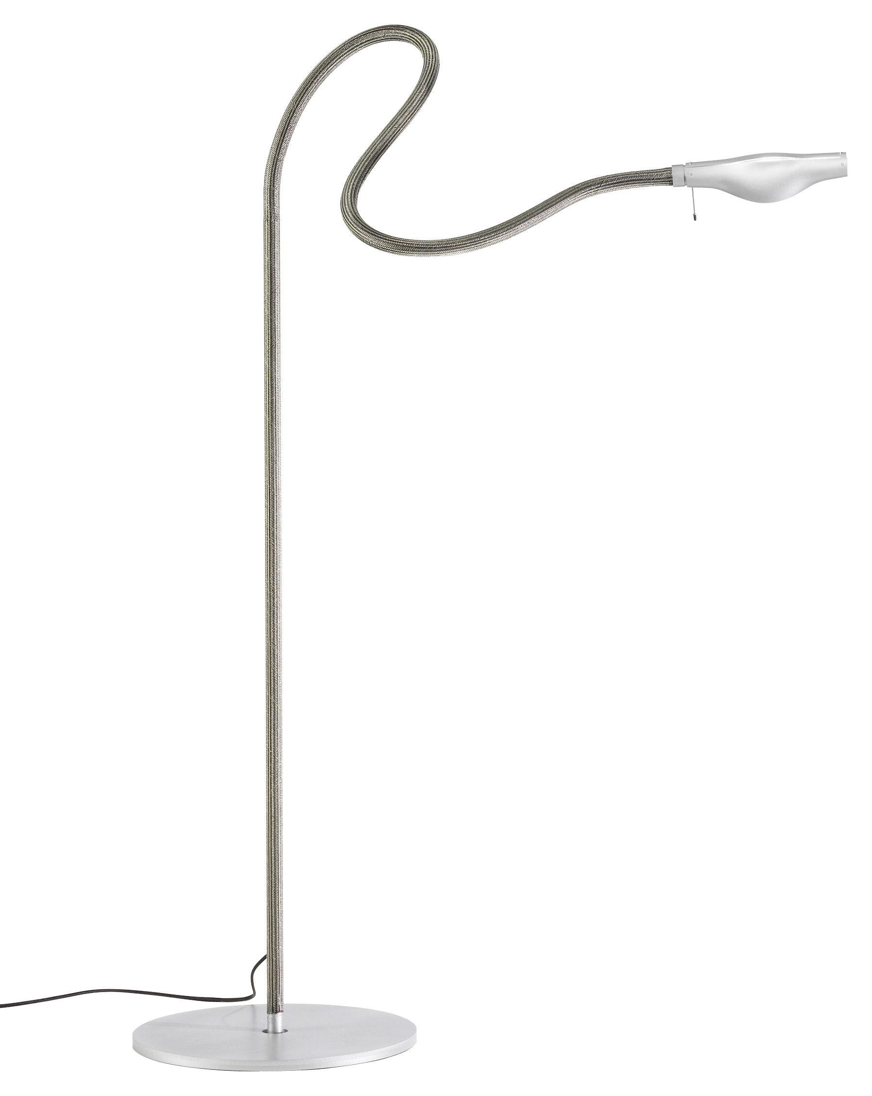 Leuchten - Stehleuchten - Metall F. Cooper Stehleuchte - Ingo Maurer - Grau - Kautschuk, Metall