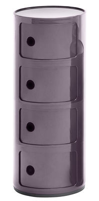 Furniture - Bookcases & Bookshelves - Componibili Storage - 4 drawers - H 77 cm by Kartell - Purple - ABS