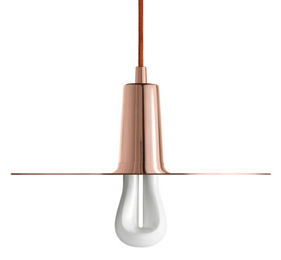 Suspension Drop Hat / Ampoule LED 002 incluse - Plumen cuivre en métal