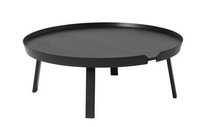 Table basse Around XL / Ø 95 x H 36 cm - Muuto noir en bois