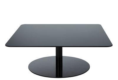Table basse Flash / Verre - 80 x 80 x H 30 cm - Tom Dixon noir en verre