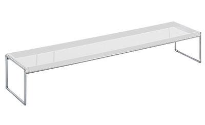 Table basse Trays rectangulaire - 140 x 40 cm - Kartell blanc en matière plastique