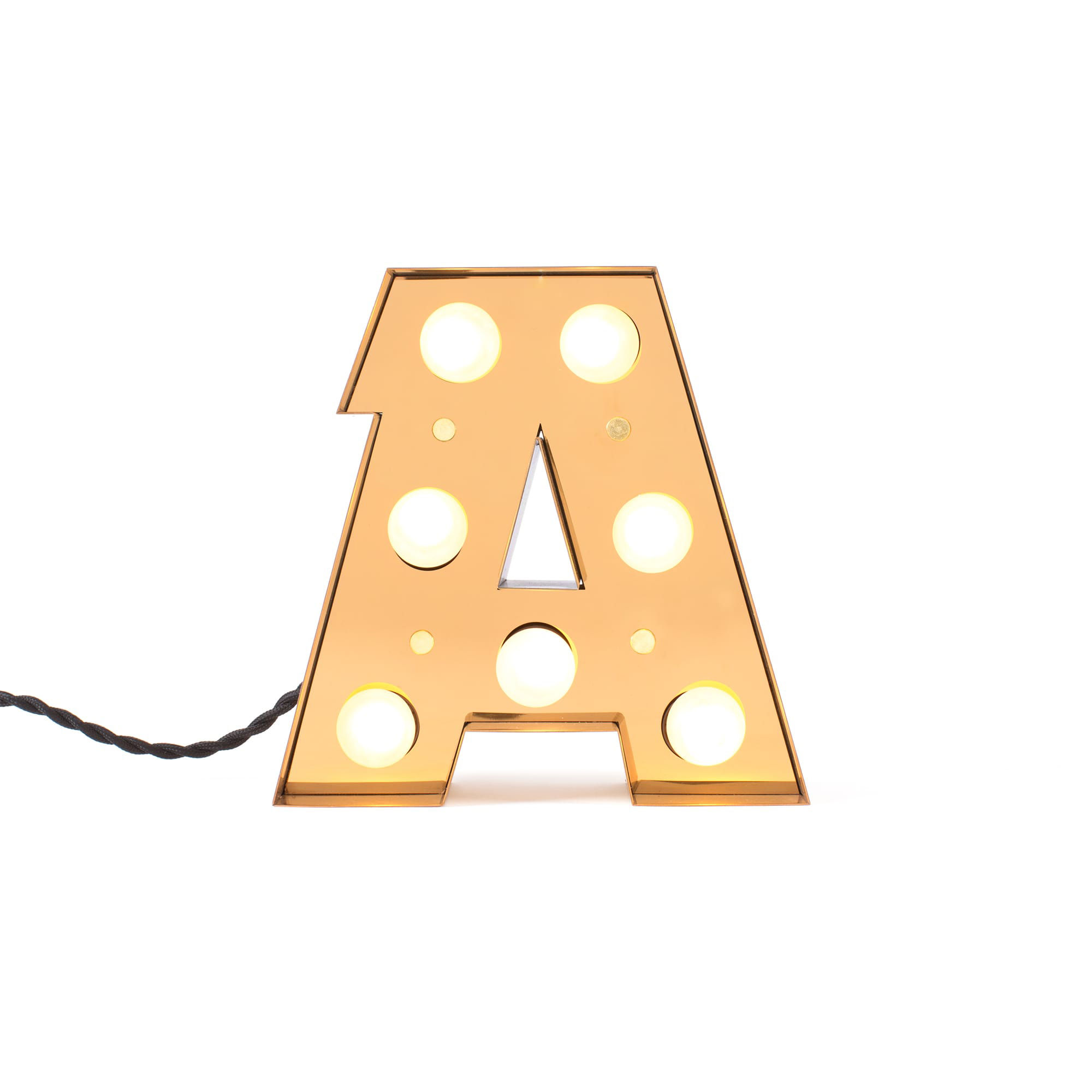 Decoration - Children's Home Accessories - Caractère Table lamp - / Wall light - Letter A - H 20 cm by Seletti - A - Lacquered metal