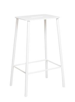 Tabouret haut Adam Outdoor / H 65 cm - Frama blanc en métal