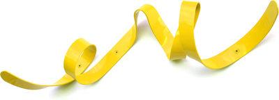Furniture - Coat Racks & Pegs - Mini Ruban Wall coat rack - L 60 cm by Pa Design - Yellow - Lacquered metal