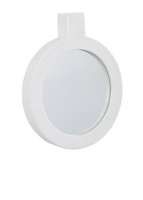 Decoration - Mirrors - Label Wall mirror - / L 24 x H 29,5 cm by Thelermont Hupton - Blanc - China, Mirror