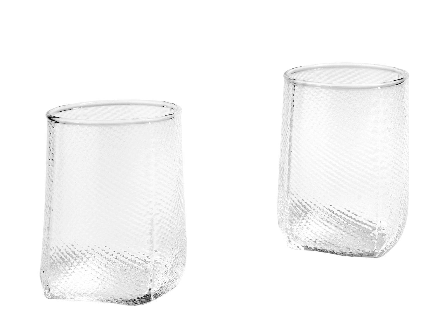 Dekoration - Kerzen, Kerzenleuchter und Windlichter - Tela Windlicht / 2er-Set - Glas - Hay - Transparent - gegossenes Glas