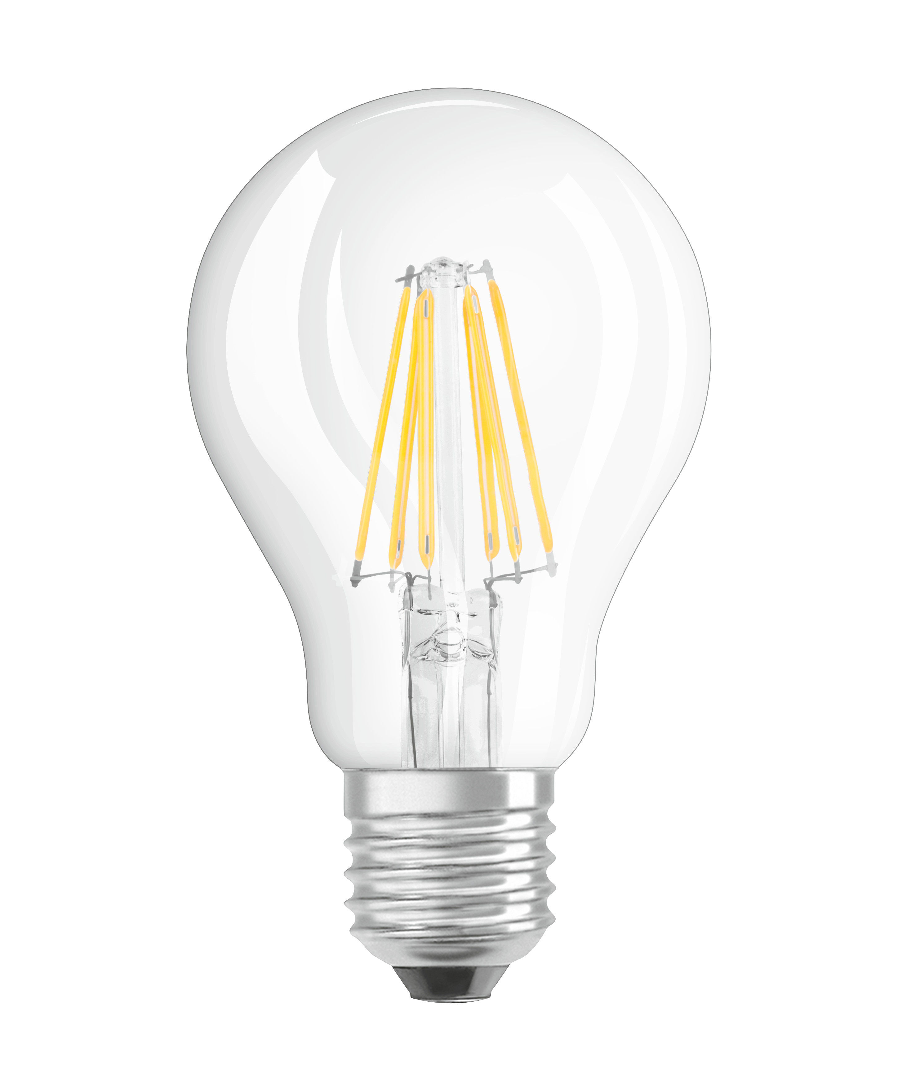 Luminaire - Ampoules et accessoires - Ampoule LED E27 / Standard claire - 7W=60W (2700K, blanc chaud) - Osram - 7W=60W - Verre