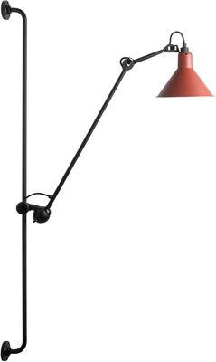 Applique avec prise N°214 / Lampe Gras - DCW éditions noir mat,rouge mat en métal