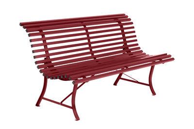 Banc avec dossier Louisiane / L 150 cm - Métal - Fermob rouge en métal