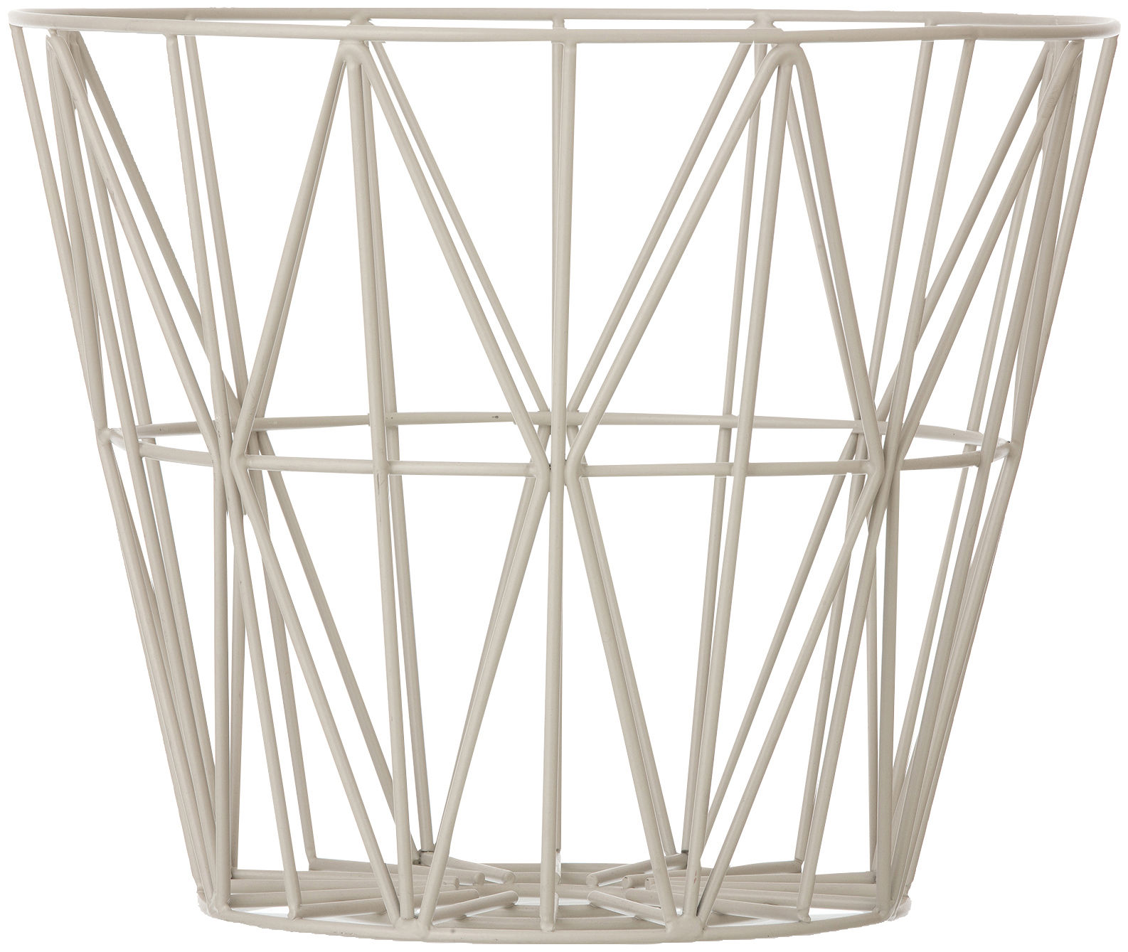 Decoration - Centrepieces & Centrepiece Bowls - Wire Large Basket by Ferm Living - Grey - Lacquered metal