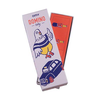 Boîte de jeu Domino / 28 dominos réversibles - OMY Design & Play multicolore en papier