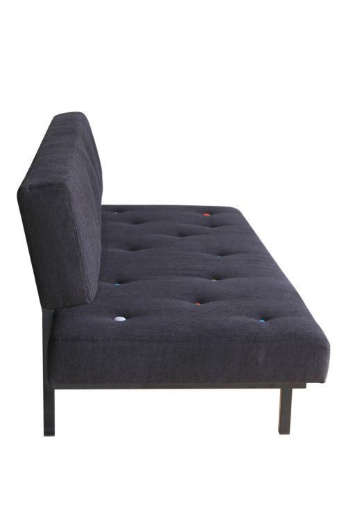 canap droit tom 3 places l 183 cm noir boutons multicolores sentou edition made in design. Black Bedroom Furniture Sets. Home Design Ideas