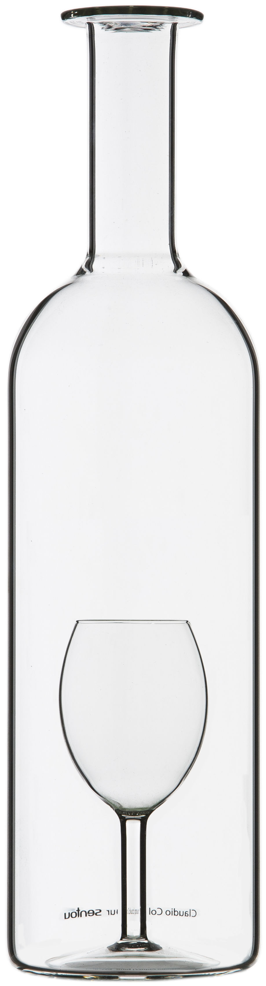 Tableware - Water Carafes & Wine Decanters - Un Verre' Carafe by Sentou Edition - 175 cl - Clear - Mouth blown glass