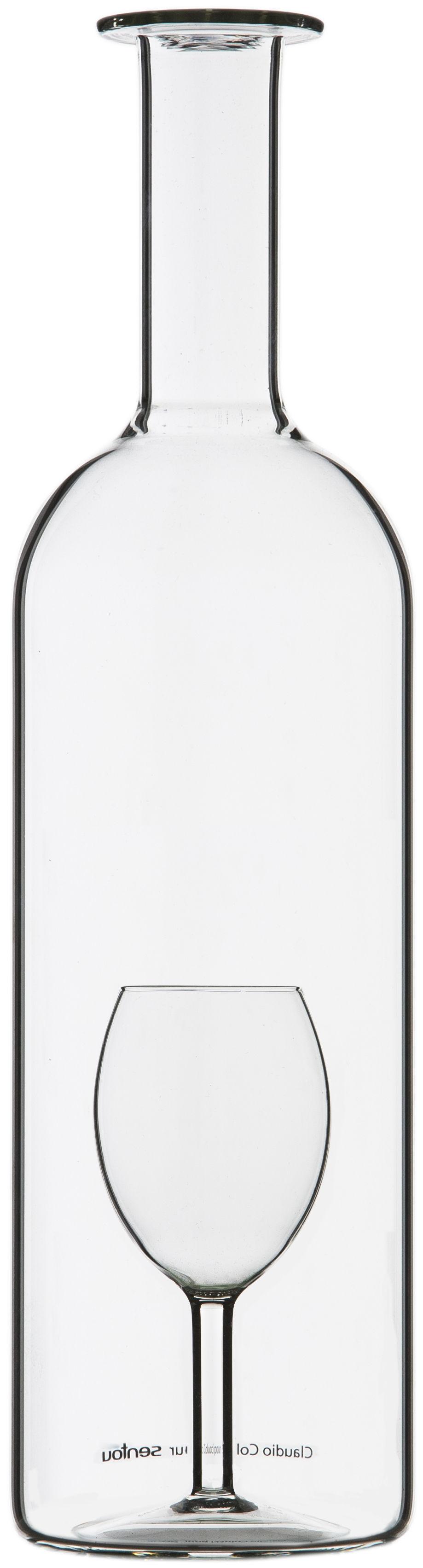 Arts de la table - Carafes et décanteurs - Carafe Un Verre' Magnum / 175 cl - Sentou Edition - 175 cl - Transparent - Verre soufflé bouche