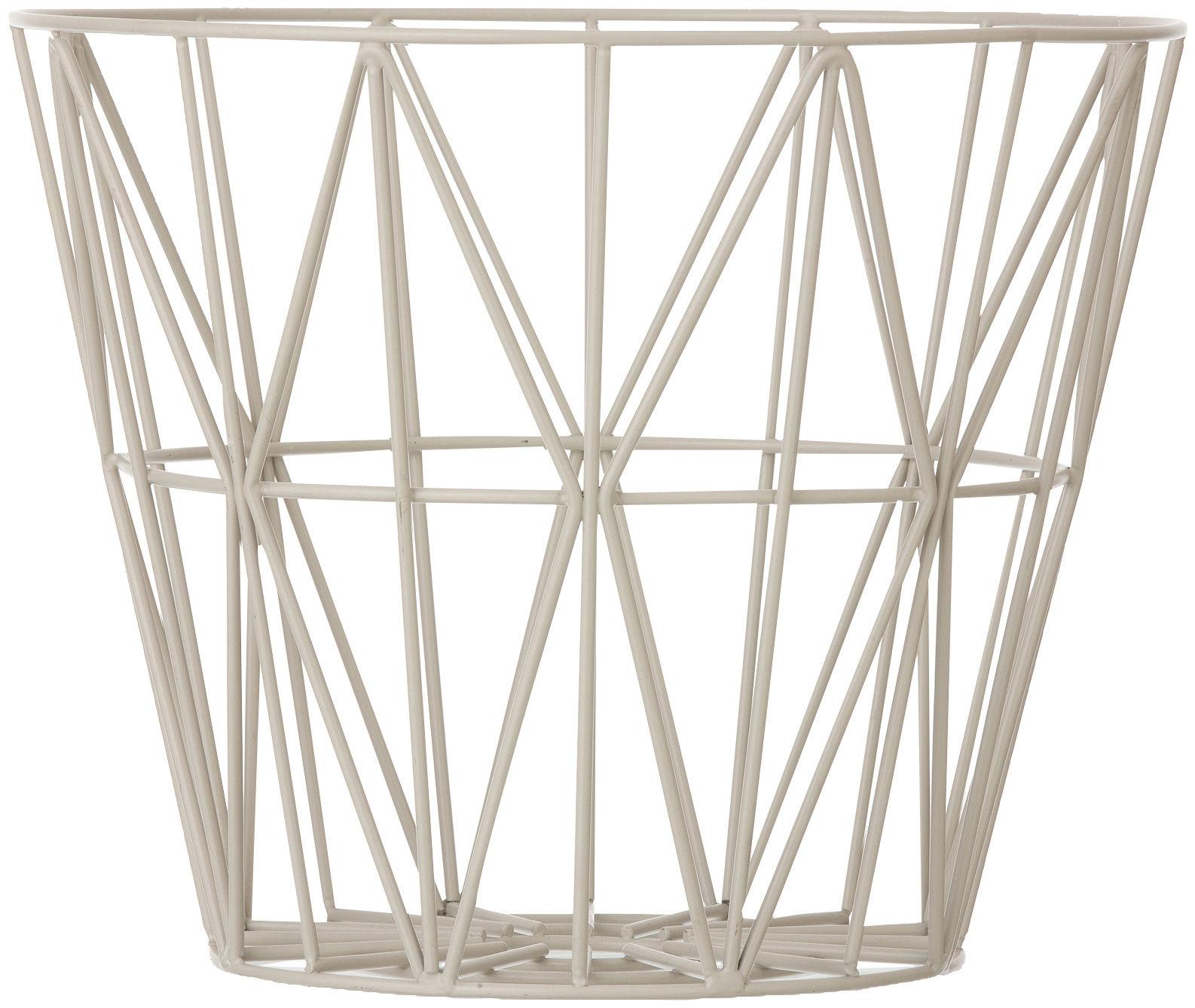 Déco - Corbeilles, centres de table, vide-poches - Corbeille Wire Large / Ø 60 x H 45 cm - Ferm Living - Gris - Métal laqué