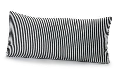 Interni - Cuscini  - Cuscino Fish & Fish / 60 x 30 cm - Serax - Piccole strisce / Nero & Bianco - Tessuto