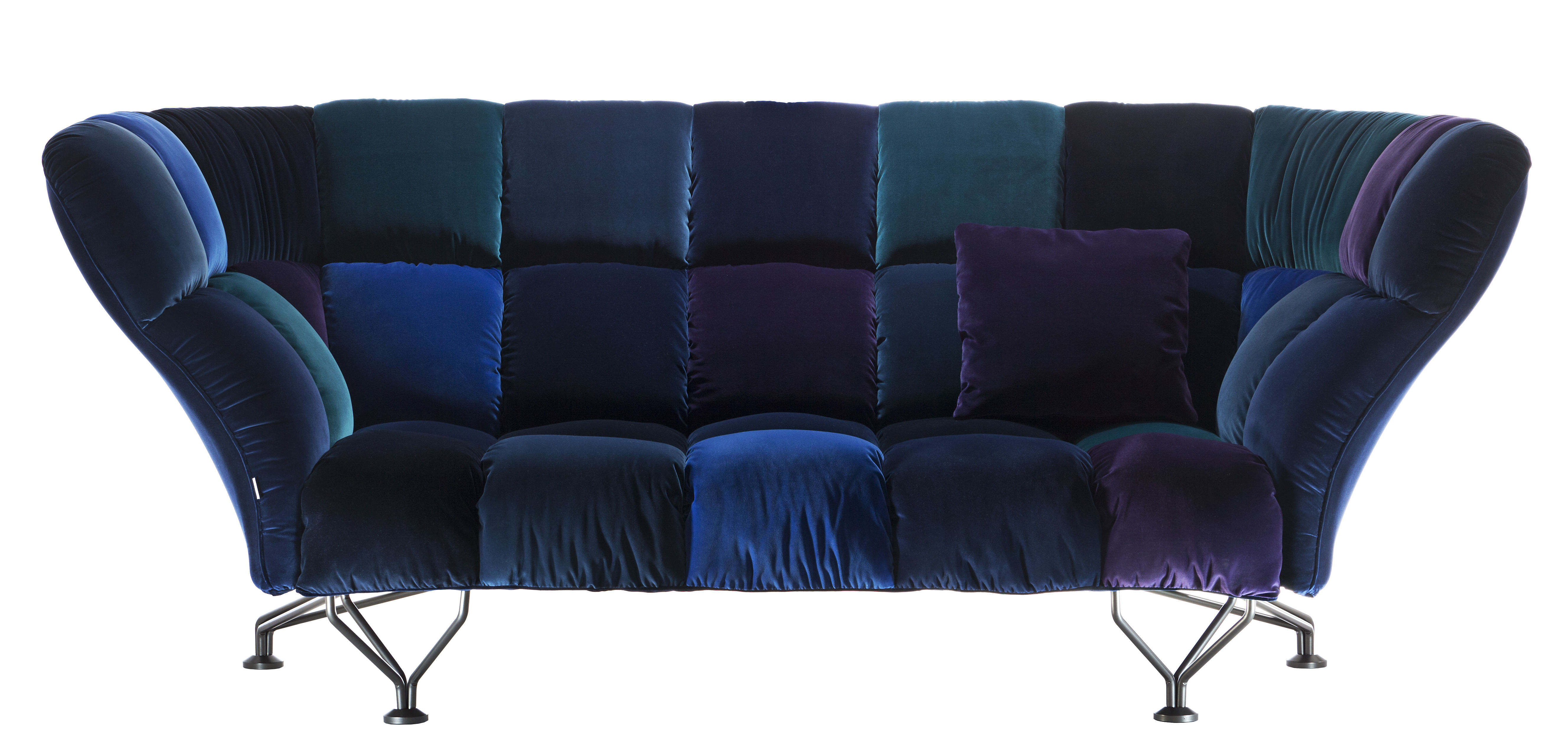 33 cuscini divano destro 3 posti l 235 cm blu by driade made in design - Cuscini divano design ...