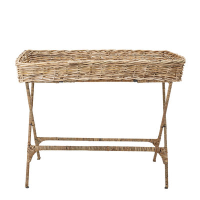 Furniture - Coffee Tables - Jasmine End table - / Rattan - 99 x 53 cm by Bloomingville - Natural - Iron, Rattan