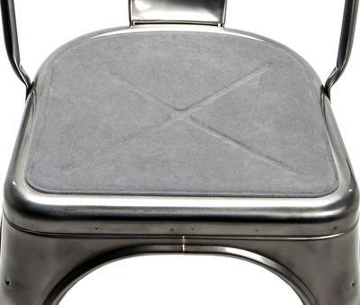 Galette d'assise / Tissu - Pour chaise A et fauteuil A56 - Tolix gris en tissu