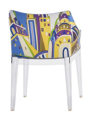 Madame Gepolsterter Sessel / von Emilio Pucci - Kartell - Blau