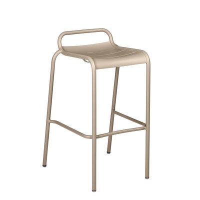 Furniture - Bar Stools - Luxembourg High stool - / Aluminium - H 78 cm by Fermob - Nutmeg - Painted aluminium