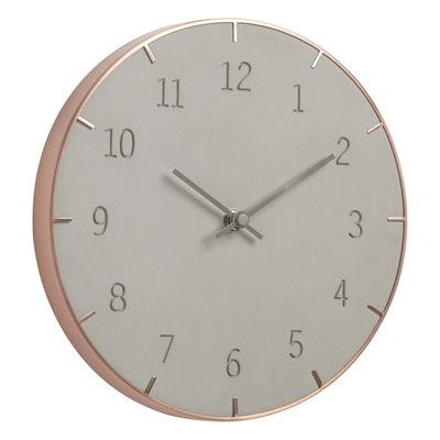 Horloge murale Piatto / Ø 25,4 cm - Métal cuivré & béton - Umbra cuivre,béton en métal