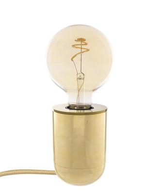 Illuminazione - Lampade da tavolo - Lampada da tavolo Nara - / Applique - H 10 cm di Pop Corn - Ottone lucidato - Laiton massif poli