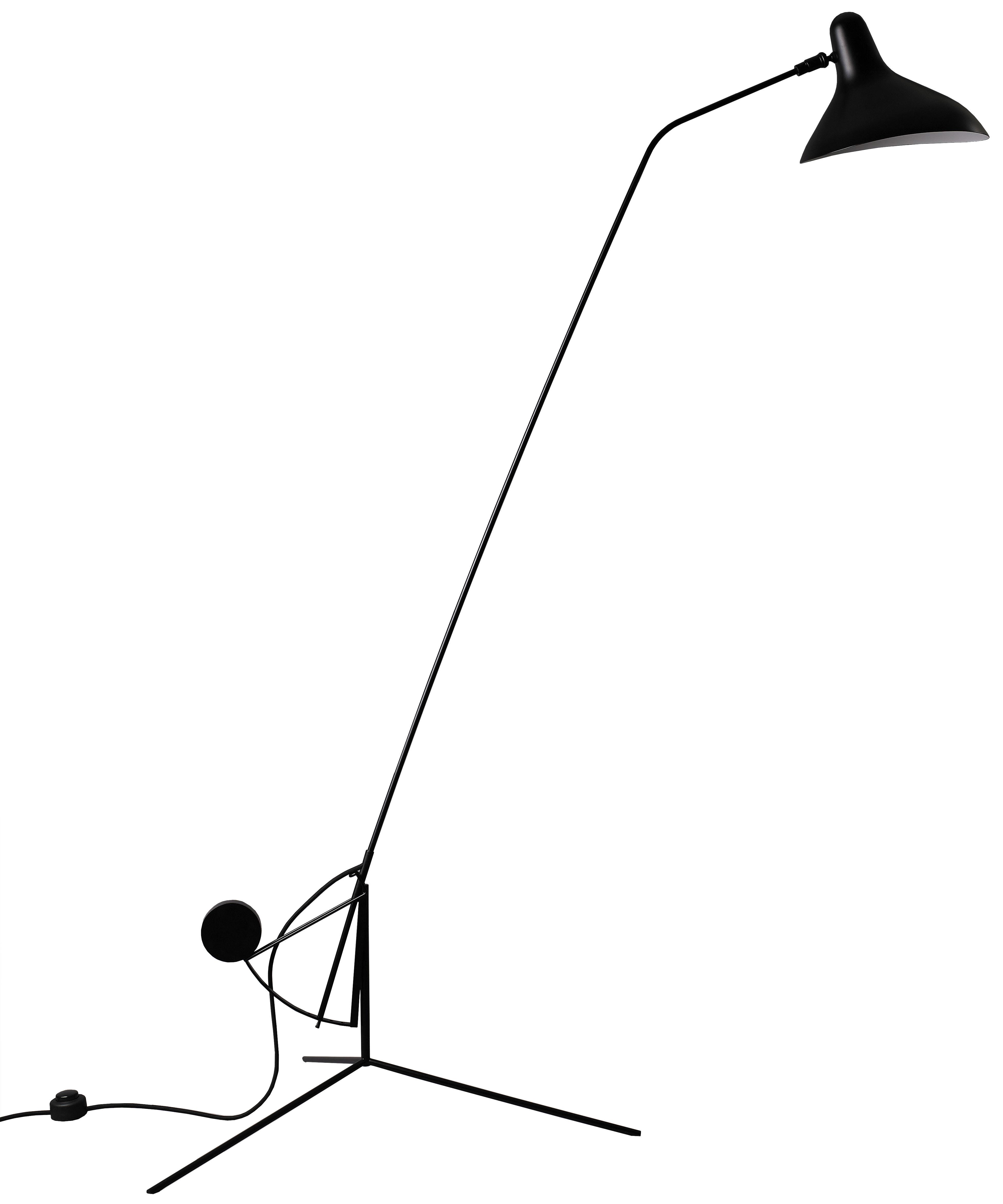 Luminaire - Lampadaires - Lampadaire Mantis BS1 / Schottlander - Réédition - Tripode - DCW éditions - Noir / Abat-jour noir - Acier, Aluminium