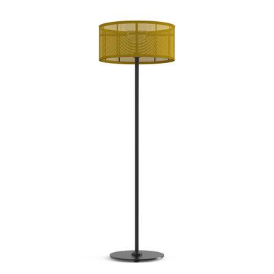 Lampadaire solaire La Lampe Padère LED / Hybride & connectée - Recharge solaire + dock USB - Maiori jaune en métal/tissu
