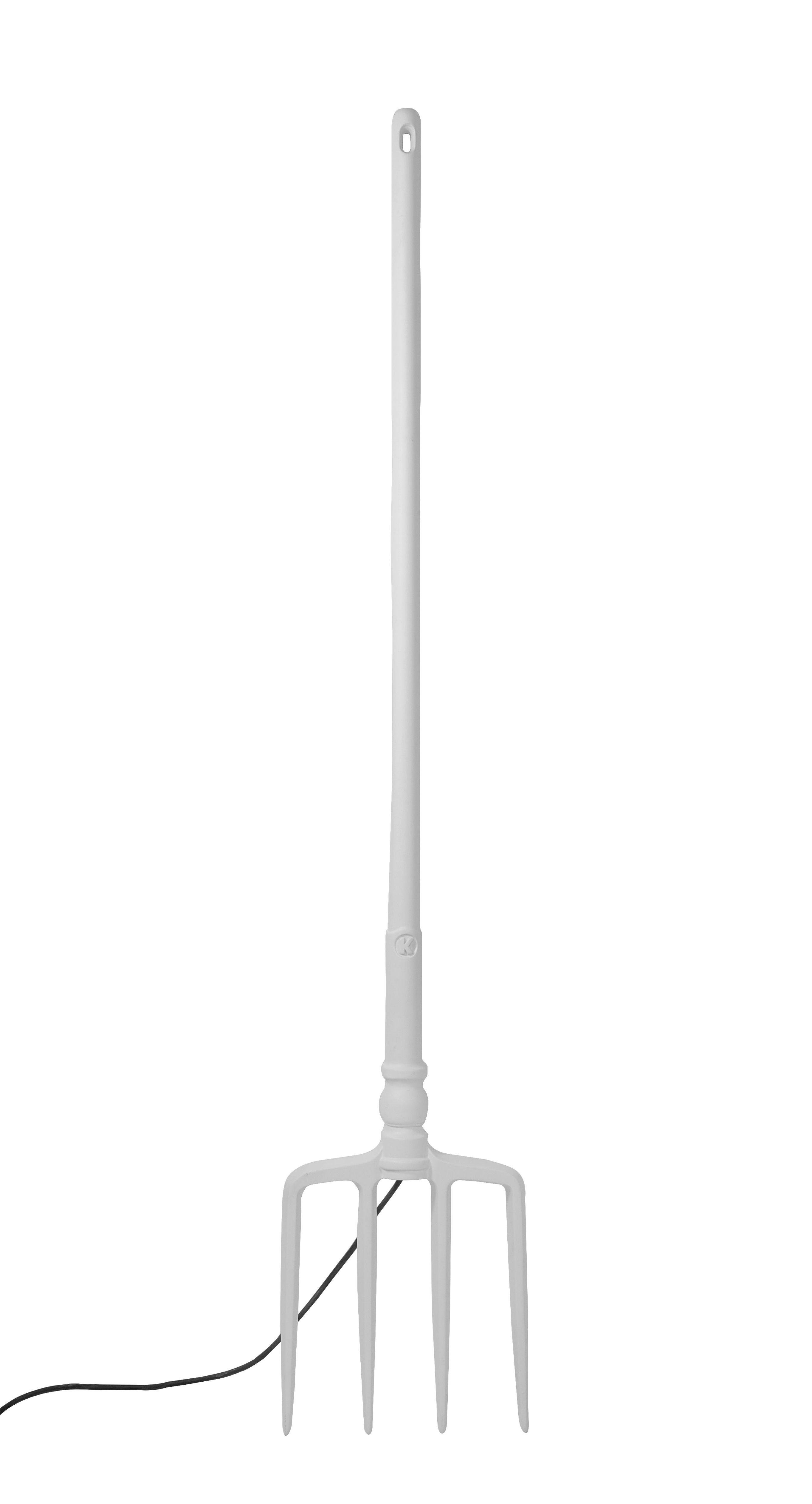 Luminaire - Lampadaires - Lampadaire Tobia LED / Fourche - H 165 cm - Karman - Fourche / Blanc - Technopolymère