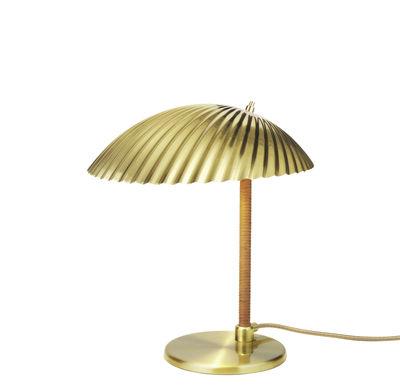 Lampe de table 5321 / Réédition 1938 - Laiton - Gubi or,bois naturel en métal