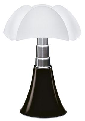 Lampe de table Pipistrello LED / H 66 à 86 cm - Martinelli Luce blanc,marron foncé en métal