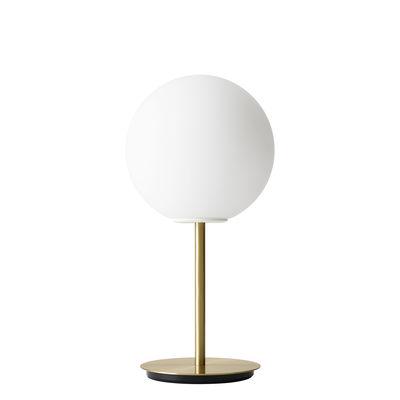 Lampe de table TR Bulb LED / Avec variateur - Laiton & verre - Menu blanc mat,laiton brossé en métal