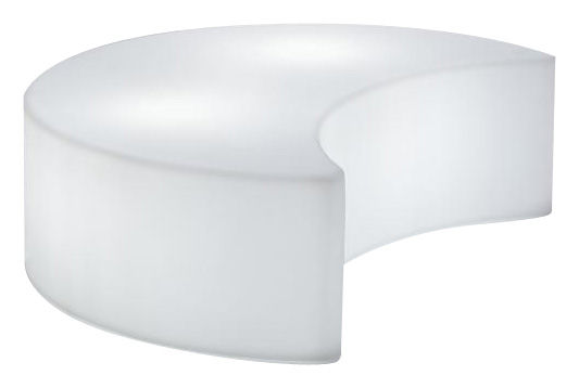 Furniture - Poufs & Floor Cushions - Moon Indoor Luminous bench - Bench - Indoor by Slide - White - Indoor - Recyclable rotomoulded polyethylene