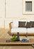 Welcome Modular sofa - / Right armrest module L 90 cm / Teak by Unopiu