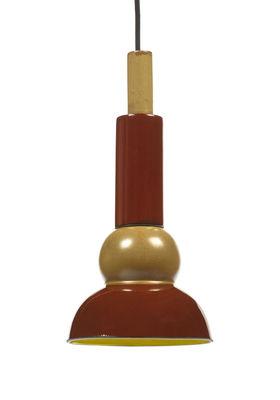 Lighting - Pendant Lighting - Anita n°3 Pendant - / Sandstone - Ø 16 x H 33 cm by Serax - Red & beige - Enamelled sandstone