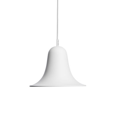 Lighting - Pendant Lighting - Pantop Pendant - / Ø 23 cm - Verner Panton (1980) by Verpan - Matt white - Painted metal
