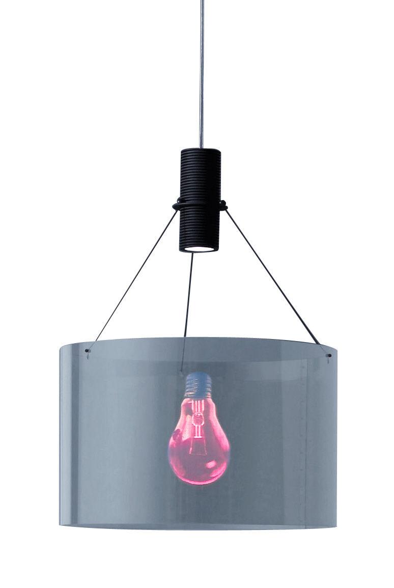 Leuchten - Pendelleuchten - Eddie's Son Pendelleuchte - Ingo Maurer - Rot und schwarz - Kabel transparent - Glas