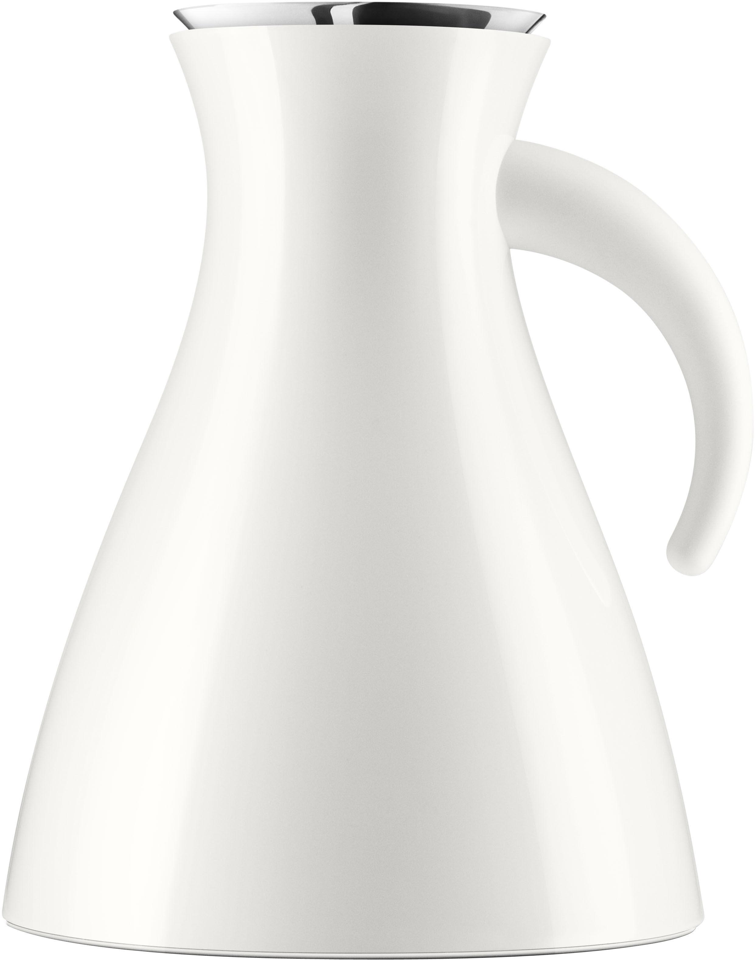 Arts de la table - Thé et café - Pichet isotherme 1 L / Ø 17,9 x H 21,5 cm - Eva Solo - Blanc - ABS, Silicone, Verre