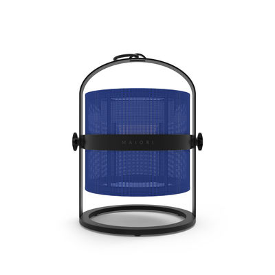 Lighting - Table Lamps - La Lampe Petite LED Solar lamp - Solar - Black structure by Maiori - Structure : Black - Diffuser : Navy Blue - Aluminium, Technical fabric