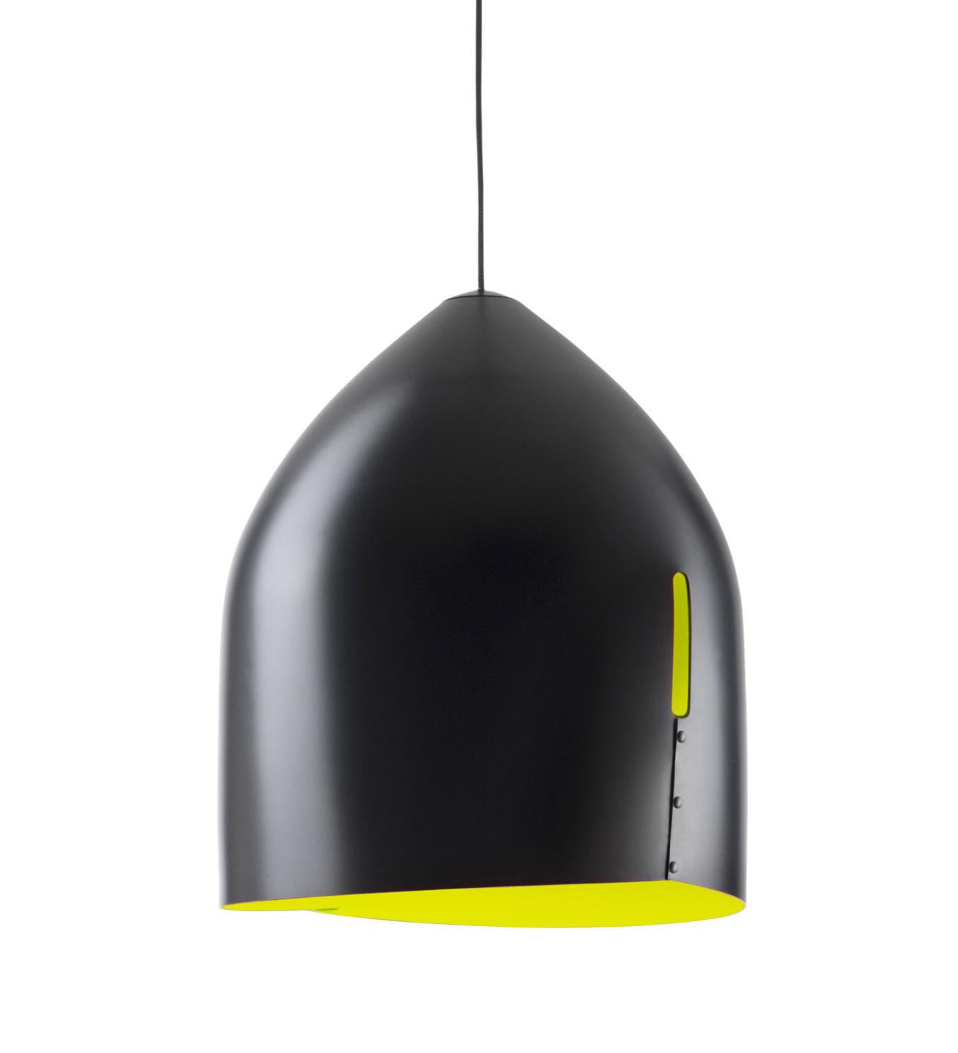 Illuminazione - Lampadari - Sospensione Oru - / Ø 37 cm di Fabbian - Nero / Interno verde - alluminio verniciato