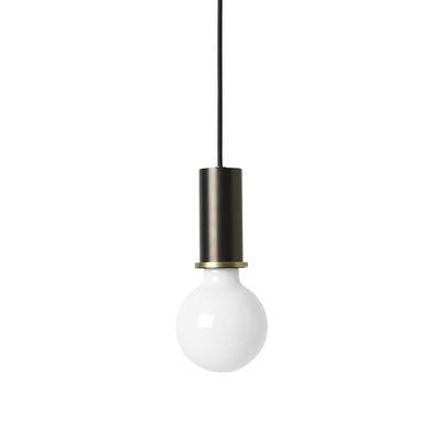 Suspension Socket Low / H 10 cm - Ferm Living laiton,noir métallisé en métal
