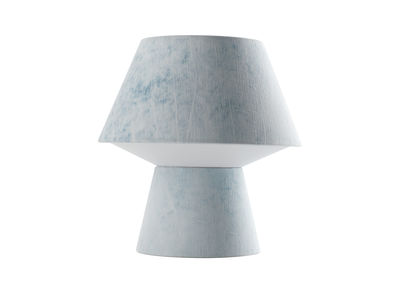 Lighting - Table Lamps - Soft Power Piccola Table lamp - H 29 cm by Diesel with Foscarini - Blue - Fabric, Metal